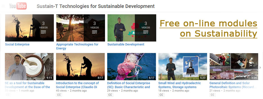 Free on-line modules on Sustainability